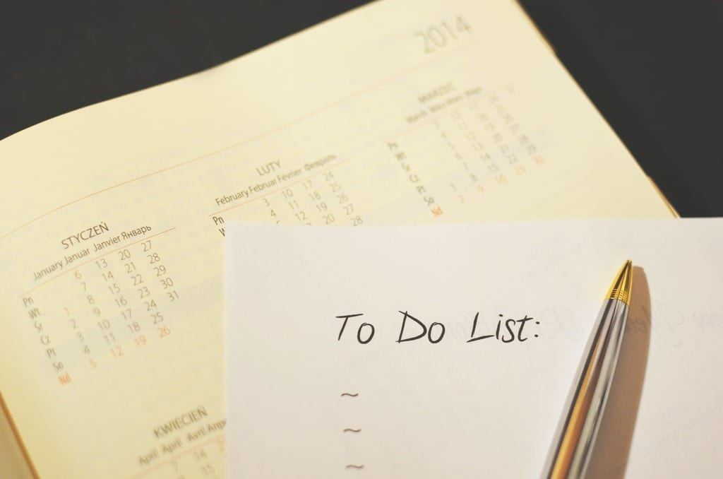 Make a to-do list for what you want to achieve through video marketing